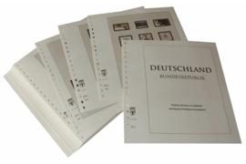 Lindner Inhouden / T-Voordruk albumbladen met folie voorbladen met stroken (Inhoud) Bondsrepubliek Duitsland 2000-2004 in kleur (46 bladen) (Lindner 120B-00)