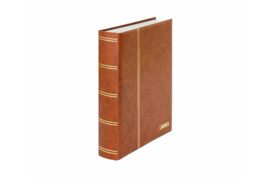 Lindner Insteekalbum Elegant (Luxe) Witte bladen/Bruine kaft (Lindner 1162S-H)