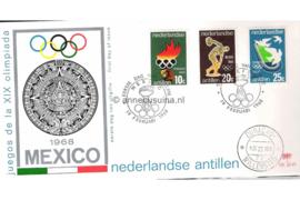 (Palmboom) NVPH E49 Olympische Spelen Mexico 1968