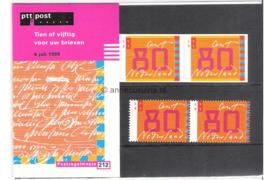 NVPH M212 (PZM212) Postfris Tien voor uw brieven 1999