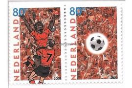 Nederland NVPH C440 Postfris (80 (a) + 80 (b)) / NVPH 1888-1889 (Paar/Samenhangend) Postfris EK Voetbal 2000