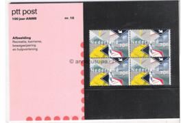 Nederland NVPH M10 (PZM10) Postfris Postzegelmapje 100 jaar A.N.W.B. 1983