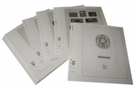 Lindner Inhouden / T-Voordruk albumbladen met folie voorbladen met stroken (Inhoud) Brazilië 1987-1993 (44 bladen) (Lindner 480-87)