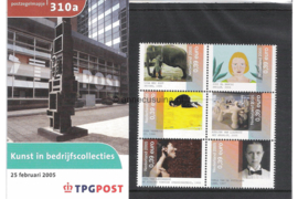 Nederland NVPH M310a+b (PZM310a+b) Postfris Postzegelmapje Kunst in bedrijfscollecties 2005