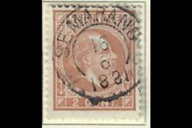 SEMARANG 16-6-1881 op NVPH 6 (SvL 7)