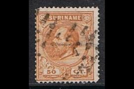 NVPH 13A Gestempeld FOTOLEVERING (50 cent) Koning Willem III Lijntanding 14 kl.g. 1870-1872
