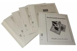 Lindner Inhouden / T-Voordruk albumbladen met folie voorbladen met stroken (Inhoud) Plaatfouten en andere bijzonderheden 1992-1993 (53 bladen) (Lindner 120BF-92)