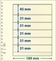 Lindner T-Blanco blad met 6 stroken (Lindner 802602) (per stuk)