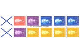 Nederlandse Antillen INHOUD van NVPH PB 4A (links) Postfris Postzegel-/Automatenboekje Type Hartz, 4 x no. 604 + 1 x no. 605 + 2 x no. 608 + 3 x no. 610 (blauw kruis) 1979
