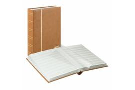Lindner Insteekalbum Luxe/Luxus Nubuk (60 blz.) Witte bladen/Bruine kaft (Lindner 1180-H)