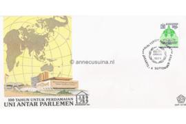 Indonesië Zonnebloem SHP-12/1989 De 100ste verjaardag van de 'Inter-Parlementaire Unie' (IPU) 1989