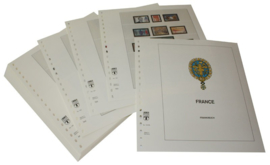 Lindner Inhouden / T-Voordruk albumbladen met folie voorbladen met stroken (Inhoud) Frankrijk 1998-2002 in kleur (48 bladen) (Lindner 132-98)