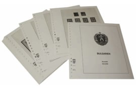 Lindner Inhouden / T-Voordruk albumbladen met folie voorbladen met stroken (Inhoud) Bulgarije 1945-1955 (47 bladen) (Lindner 135)