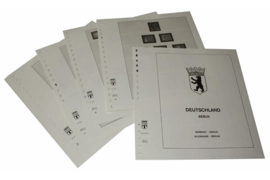 Lindner Inhouden / T-Voordruk albumbladen met folie voorbladen met stroken (Inhoud) Berlijn 1980-1990 (29 bladen) (Lindner 120C-80)
