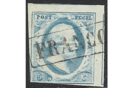 NVPH 1  Gestempeld FOTOLEVERING (5 cent) 1e emissie Koning Willem III 1852