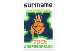 Zonnebloem 3 Postfris (75 cent) Onafhankelijkheid Suriname 1975