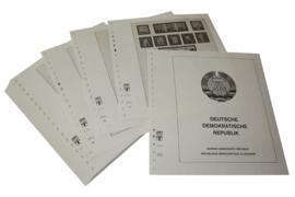 Lindner Inhouden / T-Voordruk albumbladen met folie voorbladen met stroken (Inhoud) Duitse Democratische Republiek 1975-1979 (49 bladen) (Lindner 121D)