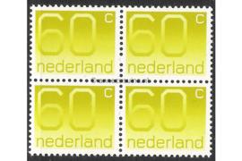 Nederland NVPH 1115 Postfris (60 cent) (Blokje van vier) Cijferserie (Crouwel zegels) 1976