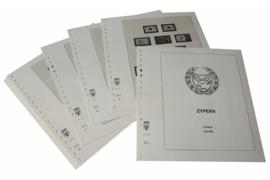 Lindner Inhouden / T-Voordruk albumbladen met folie voorbladen met stroken (Inhoud) Cyprus 1972-1984 (28 bladen) (Lindner 295a)