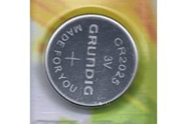 GRUNDIG CR2025 / 3 Volt / 150 mAh Knoopcel Batterij  (per stuk)