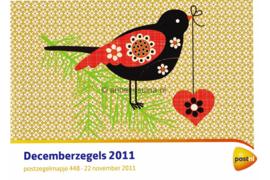 Nederland NVPH M448 (PZM448) Postfris Postzegelmapje Decemberzegels 2011