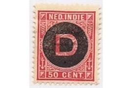 NVPH D6  Ongebruikt (50 cent) Frankeerzegel der uitgiften 1892-1897, overdukt in zwart 1911