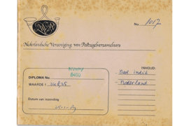 Oud gebruikt Rondzendboekje van de NVVP