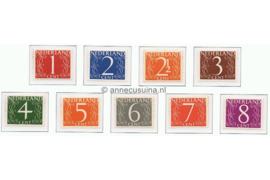 NVPH 460-468 Postfris Cijfer (Van Krimpen) 1946-1957