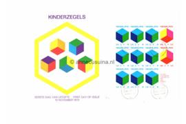 Nederland NVPH E109a Onbeschreven 1e Dag-enveloppe Blok Kinderzegels 1970