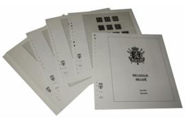 Lindner Inhouden / T-Voordruk albumbladen met folie voorbladen met stroken (Inhoud) België 1940-1944 (22 bladen) (Lindner 126)