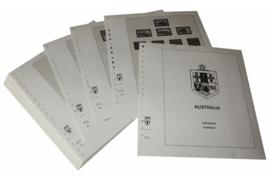 Lindner Inhouden / T-Voordruk albumbladen met folie voorbladen met stroken (Inhoud) Australië 1983-1991 (43 bladen) (Lindner 470-83)