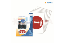 """Herma Gebodstickers """"Afstand Bewaren"""" (ø 20cm) 5 Stickers (Herma 12922)"""