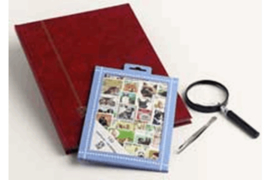 Honden en Katten Postzegelpakket incl. insteekboek, pincet en loupe