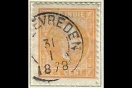 WELTEVREDEN 31-1-1878 op NVPH 7 (SvL 2)