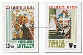 Nederlandse Antillen NVPH 616-617 Postfris 25 jaar Stichting Arubaanse Carnaval 1979