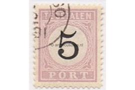 NVPH P2 Gestempeld (5 cent) Cijfer in zwart 1886-1888
