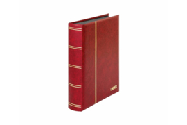 Lindner Insteekalbum Elegant (Luxe) Zwarte bladen/Rode kaft (Lindner 1169S-R)