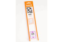 DAVO Easy stroken transparant T25 (215 x 29) 25 stuks