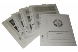 Lindner Inhouden / T-Voordruk albumbladen met folie voorbladen met stroken (Inhoud) Duitse Democratische Republiek; Omslagen Postzegelboekjes 1971-1990 (18 bladen) (Lindner 121HD)