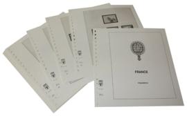 Lindner Inhouden / T-Voordruk albumbladen met folie voorbladen met stroken (Inhoud) Frankrijk 1972-1976 (24 bladen) (Lindner 132A)