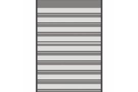 Mandor Insteekkaarten A4 291 x 210 mm zwart (9 stroken dubbelzijdig) per stuk