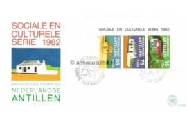 NVPH E153a Blok Cultuur, traditionele huizen 1982