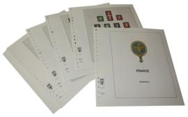 Lindner Inhouden / T-Voordruk albumbladen met folie voorbladen met stroken (Inhoud) Frankrijk 1990-1997 in kleur (46 bladen) (Lindner 132-90)