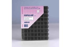 Importa Populair SETJE VAN: 4 x 63 Vaks Muntbladen met schuifjes & 4 Zwarte Schutbladen (Importa 0863z)