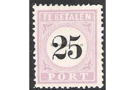 NVPH P5 Type I Postfris FOTOLEVERING (25 cent) Cijfer in zwart 1886-1888