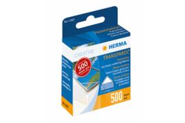 Herma Transparol Fotohoekjes dispenser 500 Stuks (Herma 1383)