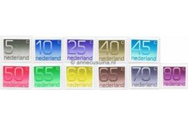 NVPH 1108A-1118A Postfris Rolzegels aan 2 zijden ongetand, Cijferserie (Crouwel-Zegels) 1991