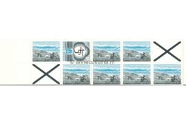 VARIETEIT! Indonesië Zonnebloem Pb 2a Postfris Met Telblok Postzegelboekje Blauw 7 x 75 rp (851) + 1 x 100 ct rp (882) + twee kruizen rechts boven en links onder. Toeslag 50 rp. 1978