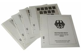 Lindner Inhouden / T-Voordruk albumbladen met folie voorbladen met stroken (Inhoud) Duitse Rijk Bezette Gebieden; Servië 1941-1943 (11 bladen) (Lindner 117F)