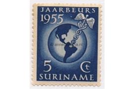 Suriname NVPH 323 Postfris Jaarbeurs te Paramaribo 1955